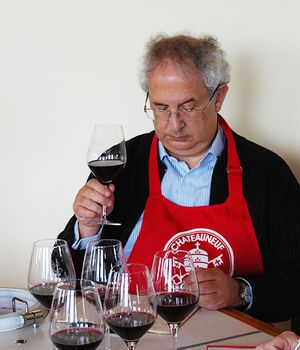 Wine critic Michel Bettane in Châteauneuf-du-Pape